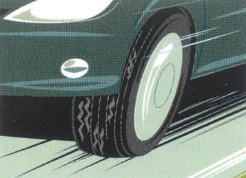 タイヤの摩耗